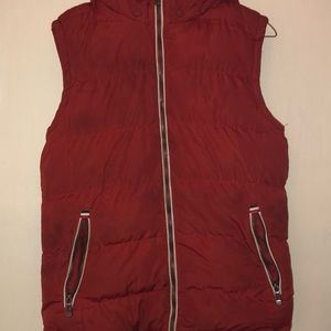 Other - Red Sleeveless Winter Vest